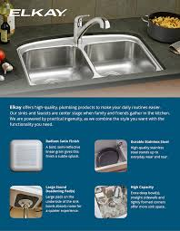 Elkay Stainless Steel Kitchen Sink by Elkay Pergola Drop In Undermount Stainless Steel 22 In 4 Hole