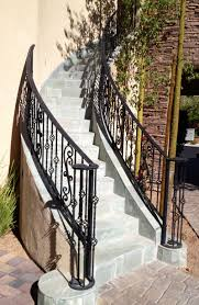 Exterior Stair Railing by Exterior Stair Railings Exterior Railings Wrought Iron