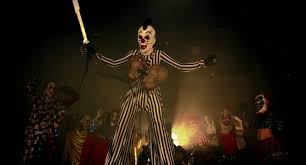clown stilts for sale horror party clowns the clown on stilts holding a chain with