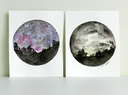 how to paint a night sky in watercolor two tutorials