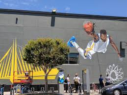 Wall Mural Country Forest Road Mural Of Kevin Durant Appears In Oakland S Temescal Neighborhood