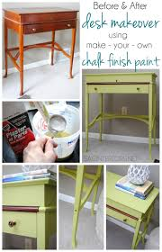 desk makeover using make your own chalk finish paint jenna burger