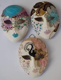 mardi gras ceramic masks other porcelain ceramics 3 x ceramic mardi gras mini masks was