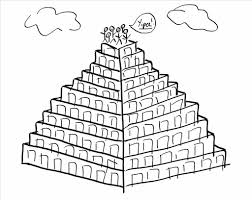 brilliant good tower of babel coloring pages pic astonishing