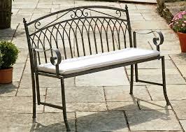 Steel Outdoor Bench Wash Grey Steel Garden Bench Seat Westmount Living