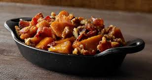 thanksgiving candied yam recipe farmland bacon club candied bacon sweet potatoes