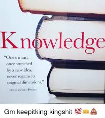 New Idea Meme - knowledge one s mind once stretched by a new idea never regains its