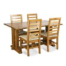 Wooden Dining Table With Chairs Wooden Square Jalidar 4 Seater Dining Table