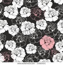 seamless vector dark floral pattern white stock vector 161057879