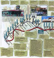 Route 66 Map by Arizona Vanishingroadsideblog