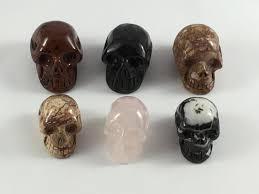 assorted healing crystal skulls healing gemstones home decor