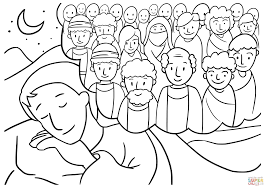 jacob u0027s dream coloring page free printable coloring pages