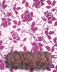 pattern paint roller online india pattern paint roller in sweet sea roses design by notwallpaper