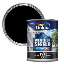 dulux weathershield exterior black gloss wood u0026 metal paint 750ml