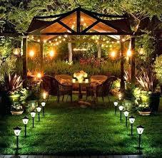 outdoor landscape lighting fixtures powered porch light solar