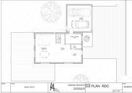 plan maison en u ouvert maison k u2013 albecker architecte