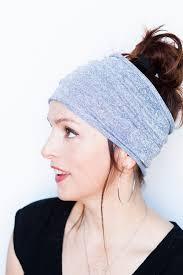 knit headband grey headband knit headband wide headband headband workout