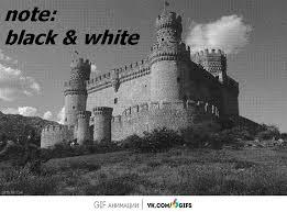 optical illusion turns black white image colour gifs