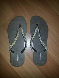 seashell flip flops designer seashell starfish wedge flip flops by justimagine1