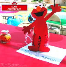 Elmo Centerpieces Ideas by Elmo Centerpiece Personalized With Name Elmo By Glittermagic23s
