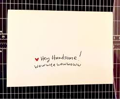 hey handsome card card for him anniversary card for husband