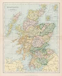 World Map Scotland by Old And Antique Prints And Maps Scotland Map 1896 Scotland
