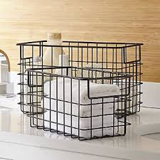 Bathroom Basket Storage Bathroom Accessories And Furniture Crate And Barrel