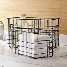Bathroom Basket Storage Bathroom Accessories And Furniture Crate And Barrel