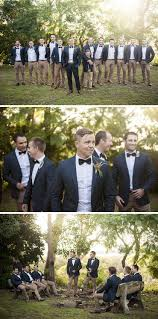 groomsmen attire for wedding cool groomsmen attire ideas brown chinos black bow tie and navy