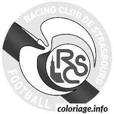 coloriage foot logo strasbourg dessin