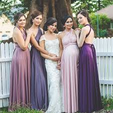 of 4 pink purple infinity dress twist wrap dress long wedding