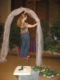 wedding arches using tulle similar to this we wedding arch with tulle just barely ordered a