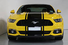 Black Mustang Stripes 2016 Ford Mustang Gt V8 Triple Yellow Black Roof With Black