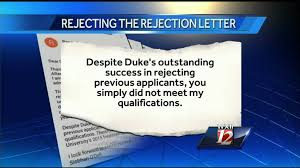 stundent writes college rejection rejection letter youtube