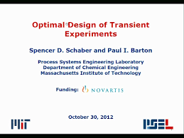 optimal design of transient microreactor experiments aiche