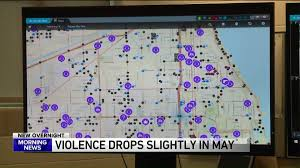 Chicago Violence Map by May Crime Stats Show Continued Decline In Violence Wgn Tv