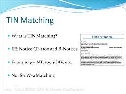 irs tin matching agenda irs tin matching program registration