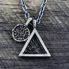 mens chain necklace silver images Triangle necklace mens necklace geometric jewelry mens jpg