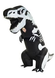 Rex Halloween Costumes Inflatable Skeleton Rex Costume Kids