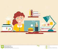 flat style design vector illustration work place stock vector