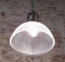 Hanging Industrial Lights by Vintage Industrial Rustic Holophane Glass Ceiling Hanging Pendant