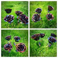 hand crafted forever roses hand forged metal roses by torched