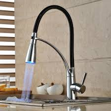 pull out sprayer kitchen faucet single handle led kitchen faucet with pullout sprayer chrome