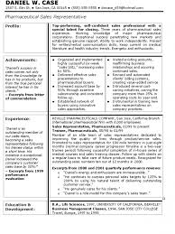 Pharmaceutical Resume  sales resume objective examples