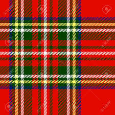 traditional scottish tartan fabric seamless pattern in red and