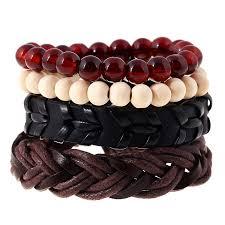 weave wrap bracelet images 4pcs set fashion trendy punk weave wrap strand women anchor jpg