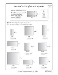 3rd grade 4th grade math worksheets area of rectangles and