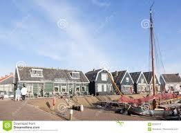 Markenk Hen Altes Segelschiff Im Hafen Des Niederländischen Dorfs Marken
