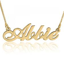 gold plated name necklace new script name necklace 24k gold plated namefactory