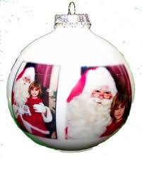 custom printed 2 5 8 60 mm white glass ornament 14 00